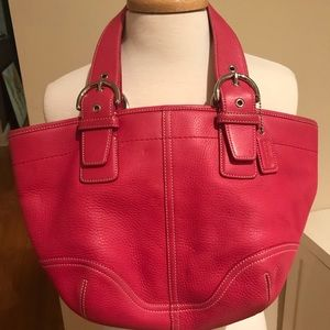 Authentic Coach hot pink handbag